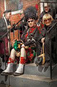 Talking Art - Music - Bag Pipes - Somerville NJ - Piper resting by Mike Savad