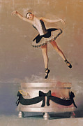 Ballerinas Digital Art Prints - Music Box Ballet Dancer Print by Liam Liberty