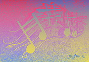 Boats Digital Art Prints - Music Capitol A 1 Print by Mark Ansier