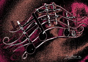 Boats Digital Art Prints - Music Capitol A 4 Print by Mark Ansier
