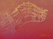 Boats Digital Art Prints - Music Capitol A 7 Print by Mark Ansier