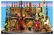 Musical Instruments Framed Prints - Music Castle Framed Print by Colin Thompson