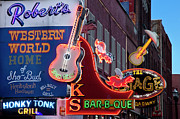 Nashville Tennessee Art - Music Clubs Nashville by Brian Jannsen