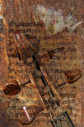 Violin Digital Art - Music Collage by Phyllis Denton
