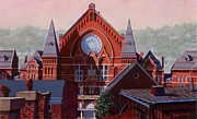 Cincinnati Painting Metal Prints - Music Hall Metal Print by Larry  Womack