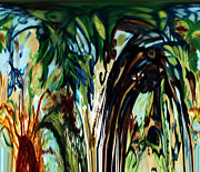 Genevieve Esson - Music In Bird Of Tree Drip Painting