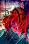 Abstract Music Digital Art - Music In My Heart by Linda Sannuti