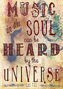 Soul Musicians Prints - Music in the Soul Print by Heather Applegate