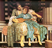 Frederick Digital Art Posters - Music Lesson Poster by Lord Frederick Leighton