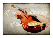 Music. Love Posters - Music Lover Card Poster by Edward Fielding