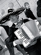 Singing Photo Originals - Music-mariachi Accordionist by Hugh Peralta