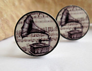 Images Jewelry - Music Mens Cufflinks by Rony Bank