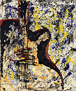 Guitar Painting Originals - Music by Nora Dorian