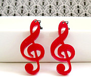 Silhouettes Jewelry - Music Note Earrings by Rony Bank