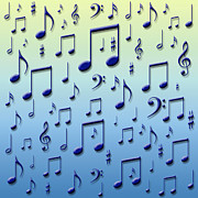 Symbology Prints - Music notes Print by Gaspar Avila