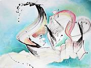 Music Of Sea Waves Print by Asha Carolyn Young