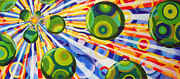 Op Art Drawings Posters - Music of the Spheres Poster by Betsy Jones