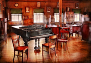 Antique Fan Prints - Music - Piano - The grand piano Print by Mike Savad