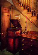 Dresser Framed Prints - Music - Record - The Victrola Framed Print by Mike Savad