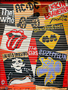 Led Zeppelin Art - Music street art color by Luciano Mortula