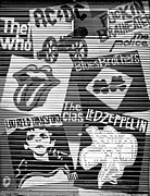 Led Zeppelin Prints - Music street art Print by Luciano Mortula