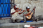 Singing Photo Originals - Music-street Musicians by Hugh Peralta