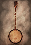 Neck Posters - Music - String - Banjo  Poster by Mike Savad