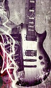 Electric Guitar Photos - Music Studio Art by Brian Howard