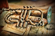 Music Lover Prints - Music - The Trumpet Print by Paul Ward