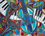 Concert Mixed Media Originals - Music Time 1 by Cynthia Snyder