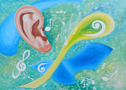 Relax Paintings - Music To My Ear by Leana De Villiers