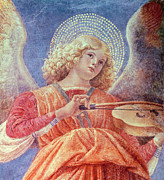 Guitarists Paintings - Musical Angel with Violin by Melozzo da Forli