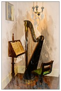 Vintage String Instruments Posters - Musical Corner Poster by Marcia Lee Jones
