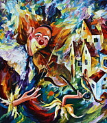 Jester Paintings - Musical Maturity  by Leonid Afremov