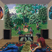 Hallucination Painting Prints - Musical Mirage Print by Joel Fletcher