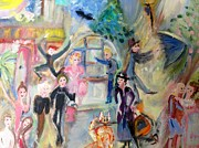 Stage Painting Originals - Musical Paradise by Judith Desrosiers
