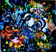 Visionary Art Painting Prints - Musics Brow Print by Alicia Post