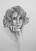 Pensive Drawings Originals - Musing by Alan Pickersgill