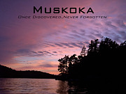 Sunset On The Lake Prints - Muskoka Print by Jeff Peterson