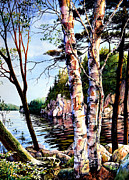 Hanne Lore Koehler Print Paintings - Muskoka Reflections by Hanne Lore Koehler