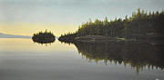Canoe Painting Posters - Muskoka Solitude Poster by Kenneth M  Kirsch
