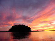 Sunset On The Lake Prints - Muskokan Sunset Print by Jeff Peterson