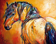 Mustang Paintings - Mustang Appaloosa by Marcia Baldwin