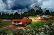 Field Digital Art - Mustang Field by Tom Straub