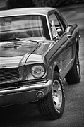 Monochrome Hot Rod Posters - Mustang Poster by Gordon Dean II