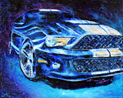 Ford Mustang Painting Framed Prints - Mustang Framed Print by Jennifer Godshalk