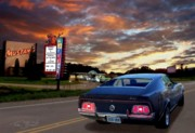Woody Allen Prints - Mustang Muscle Print by Tom Straub