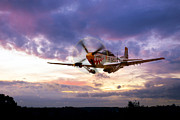 North American P51 Mustang Digital Art Posters - Mustang Scramble Poster by James Biggadike