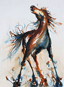 Mustang Paintings - Mustang by Terry Meyer
