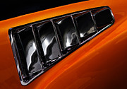 Orange Car Art - Mustang Vents by Rebecca Cozart